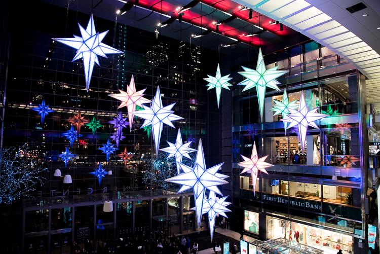 Décorations de Noël à NYC Columbus Circle New York Voyage