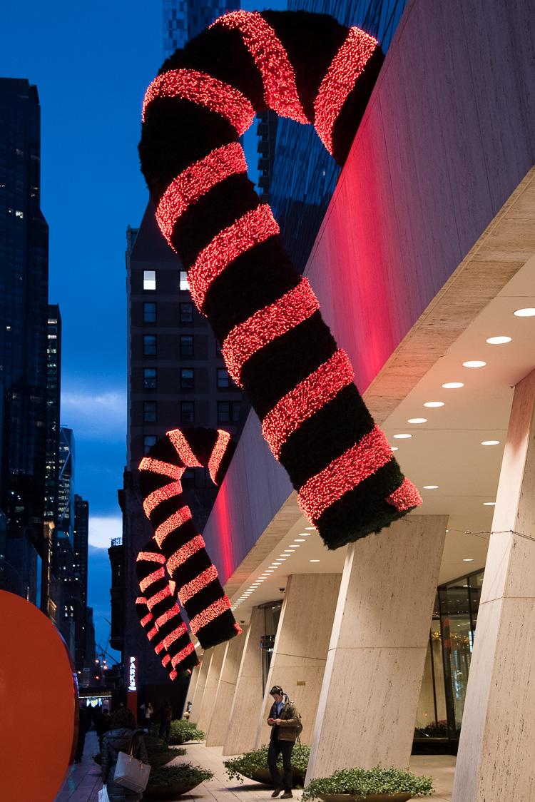 Décorations de Noël à New York blog voyage NYC
