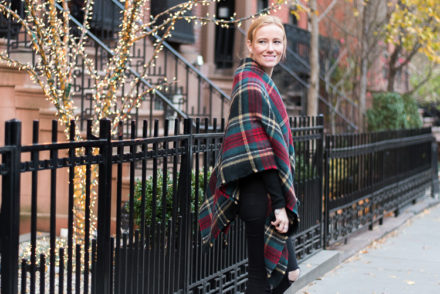 Fashion blogger in New York Oversized Scarf