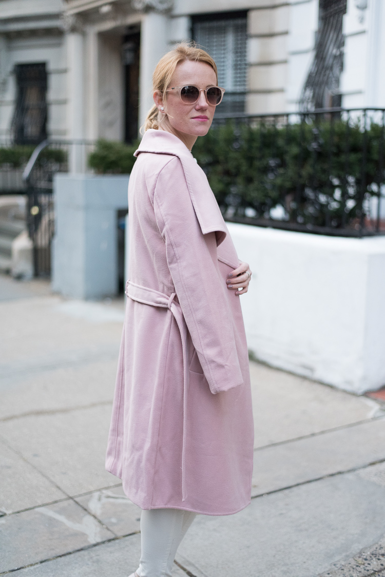 Pink Coat NYFW Fashion Blogger NYC