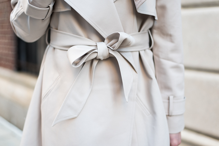 Trench Coat bow detail