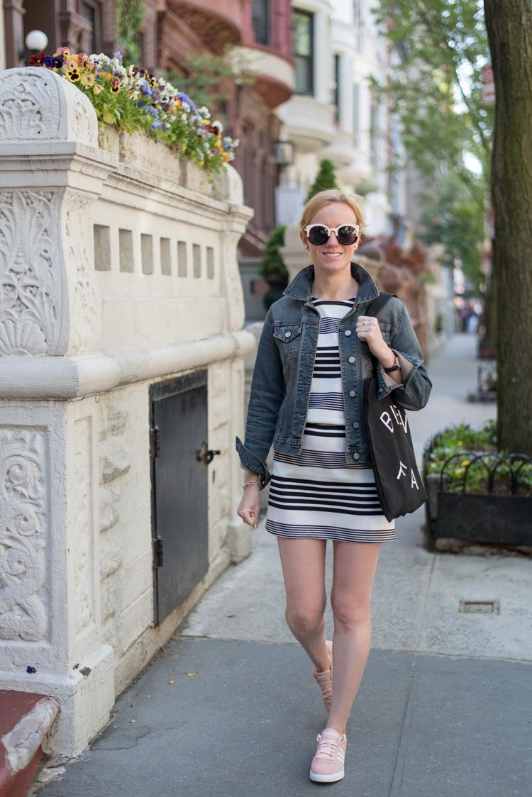 Tobi Stripe Dress Fashion blogger collaboration
