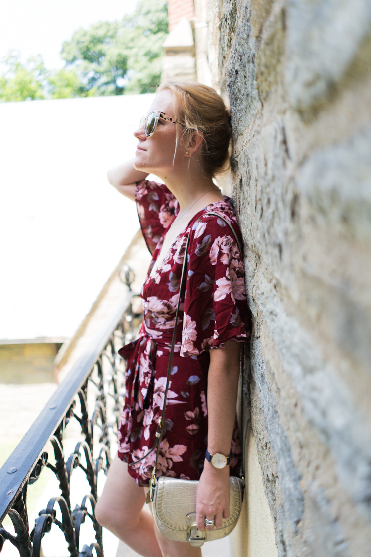 Romwe Fashion Summer Floral Romper shopping