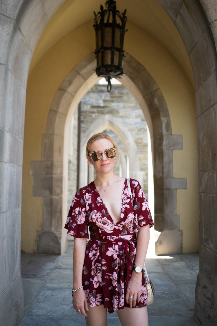 Summer Look Floral Romper Romwe Fashion Blogger