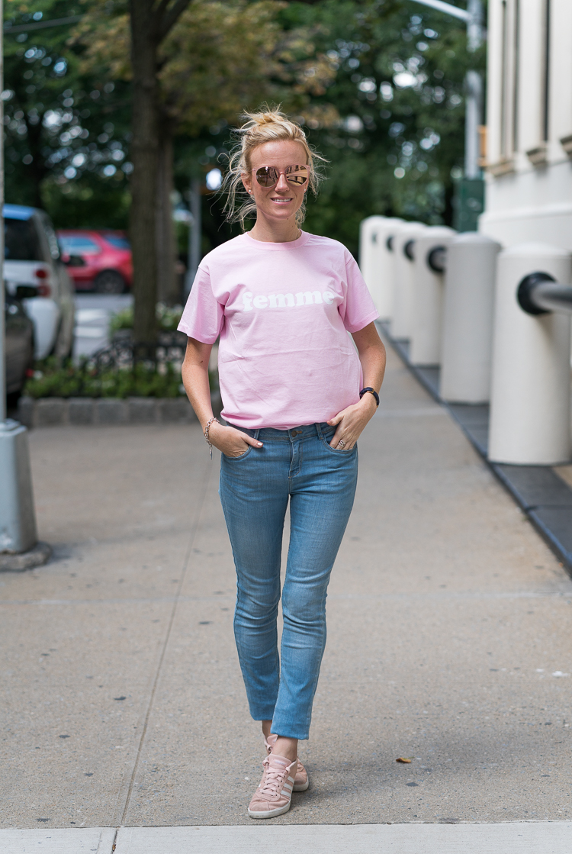 Femme Pink Tshirt Asos Fashion blogger