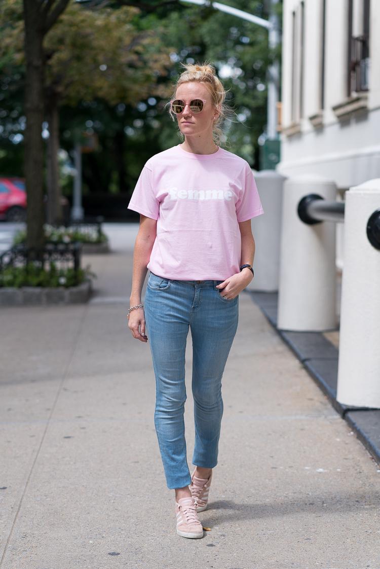 French Fashion blogger in New York NY
