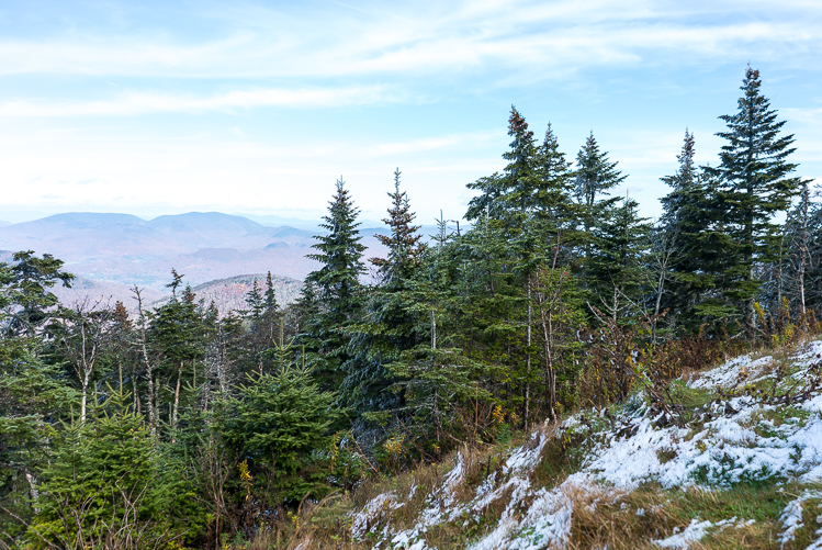 hiking at Mount Equinox Vermont