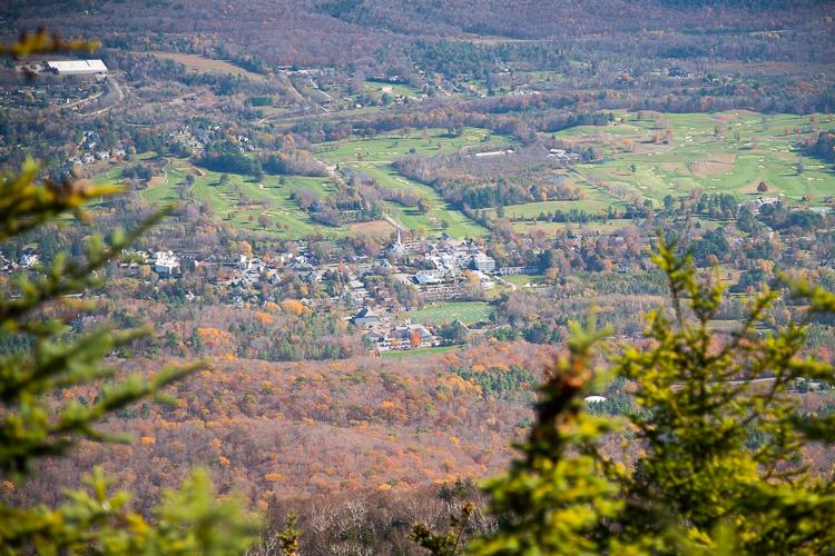 Vermont mount Equinox Fall hike