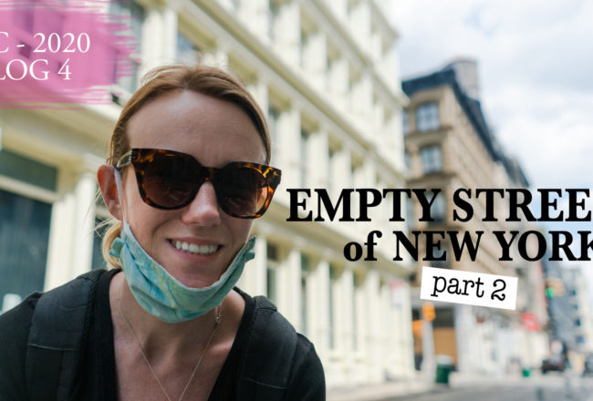 Les rues vides de New York City pendant le COVID-19