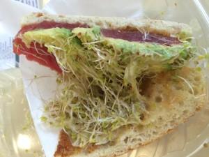 North Shore Poke Co. Sandwich