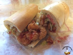 Old Tyme Grocery Shrimp Po Boy with Ketchup