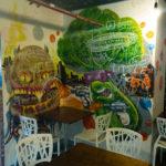 Killer Hamburger and aggressive broccoli wall art