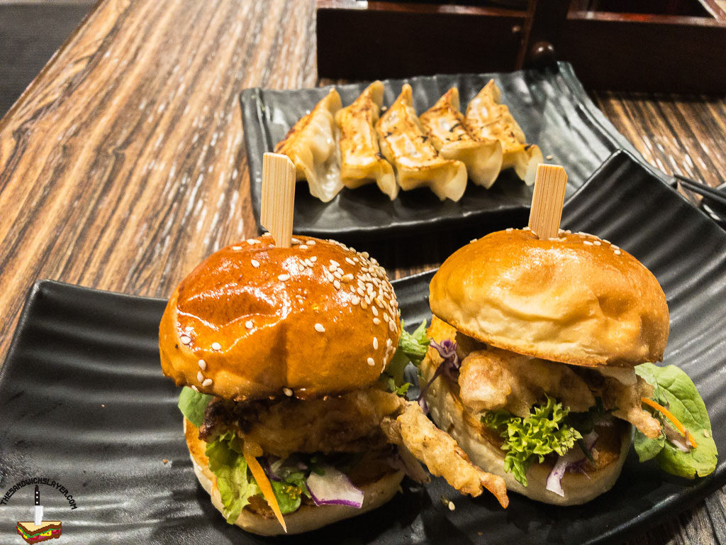 Soft Shell Crab mini burgers. From Gyoza Gyoza in Adelaide Australia