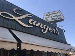 Langer's Deli LA Sign