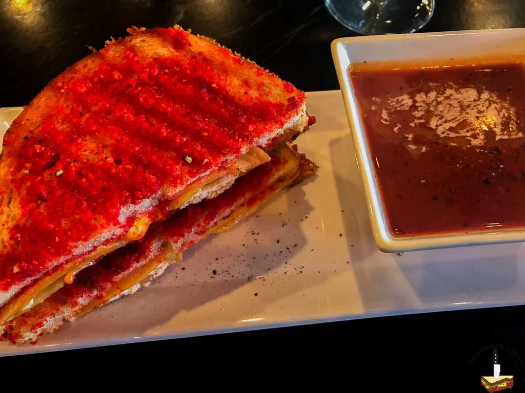 A lobster ravioli filled Grilled cheese from The Straw in Costa Mesa