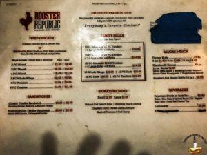 Rooster Republic menu