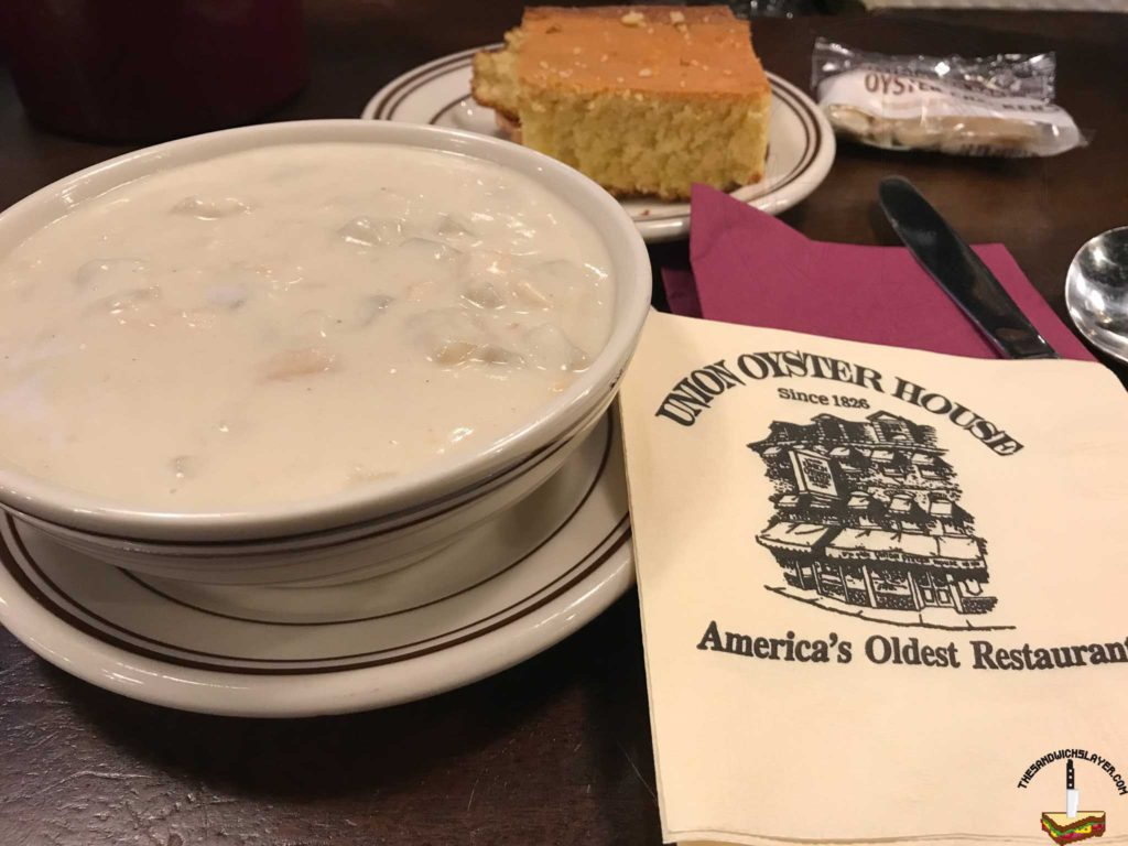Clam Chowder from Ye Olde Union Oyster Bar in Boston