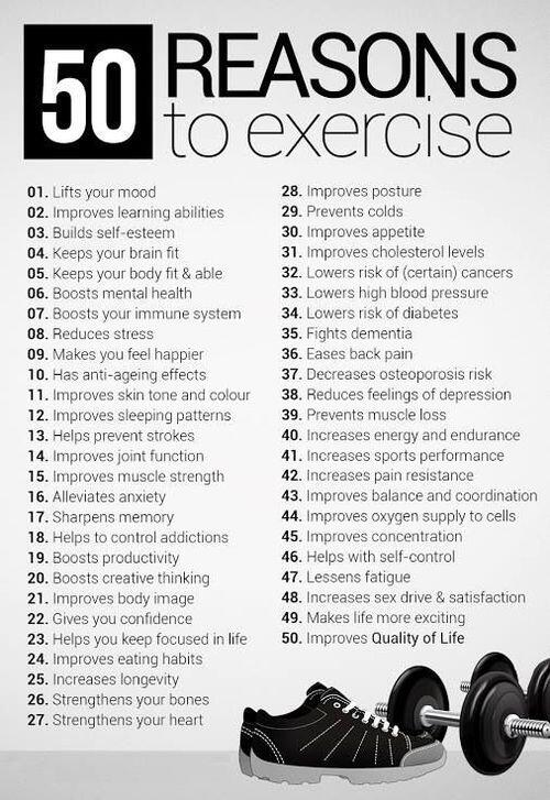 Fitness Motivational Quotes 50 Reasons To Exercise