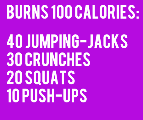 Fitness Motivational Quotes Burn 100 Calories