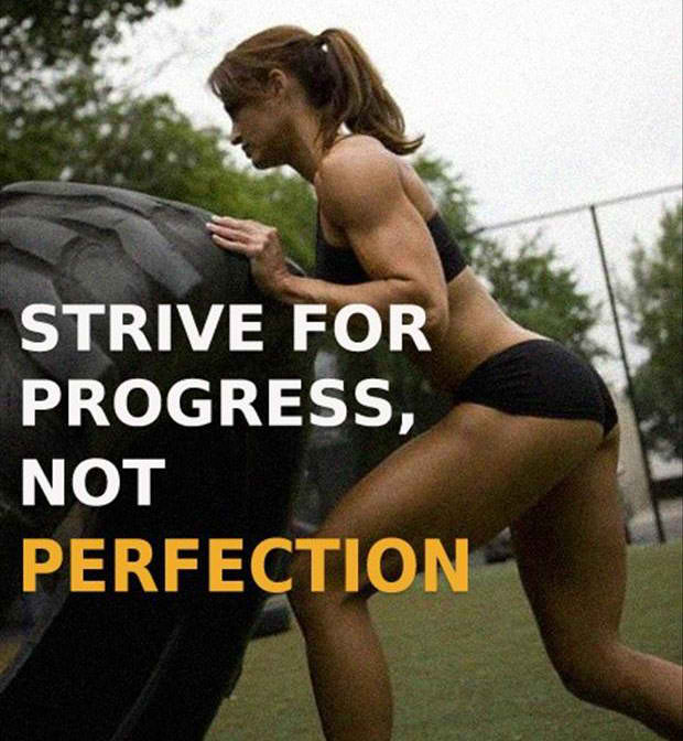 Fitness Motivational Quotes Strive For Progress, Not Perfection