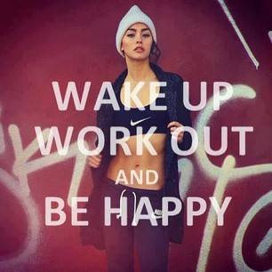 Fitness Motivational Quotes Wake Up. Work Out And Be Happy