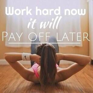 Fitness Motivational Quotes Work Out Now It Will Pay Off Later