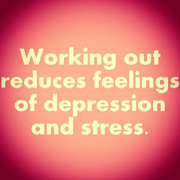 Fitness Motivational Quotes Working Out Reduces Feelings Of Depression And Stress