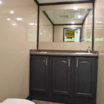 INVENTORY OF PORTABLE RESTROOM TRAILERS FOR SALE 2 station vanity