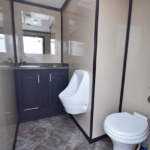 INVENTORY PORTABLE RESTROOM TRAILERS SALE three station