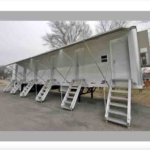 semi trailer conversion with steps