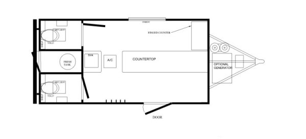 TWO STATION DRUG TESTING TRAILER FLOOR PLAN