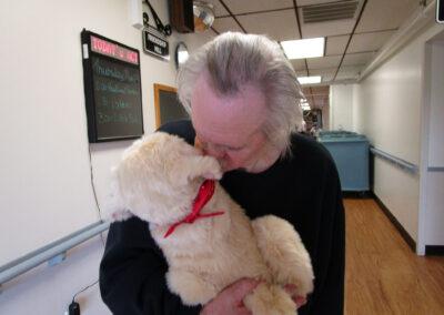 Dreamer John obviously loves his robotic dog