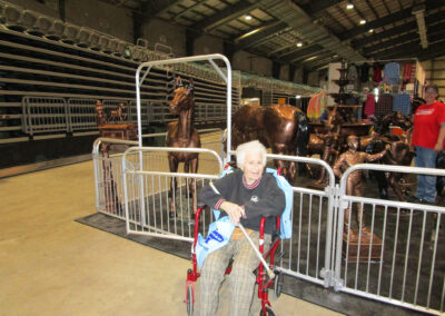 Horse lover Diana of QLS-Grove City enjoyed her trip to a horse show