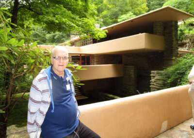 Larry spent a great day at Fallingwater