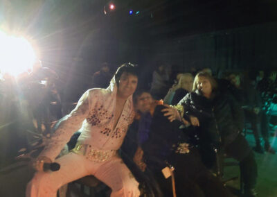 Mary of QLS-Markleysburg rocked out to an Elvis impersonator