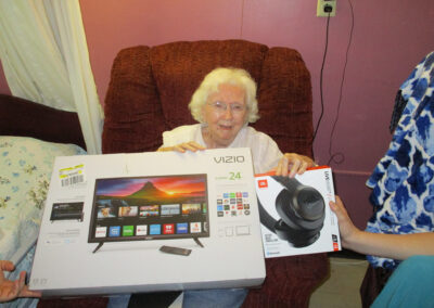 Mary's dream was to receive a new television