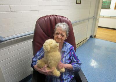 Pet lover Diana received a robotic pet companion