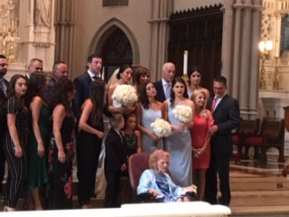Amalia and her family were thrilled to be together for her granddaughters wedding