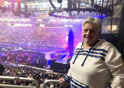 Barb was all smiles at the Michael Buble concert
