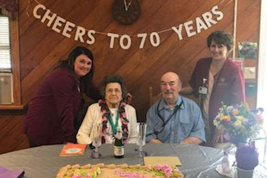 Happy 70th Anniversary was a dream come true for Leonard and his wife