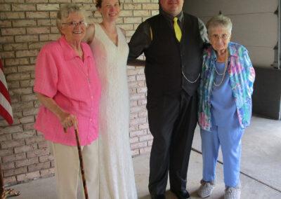 Minerva attended her grandson's wedding