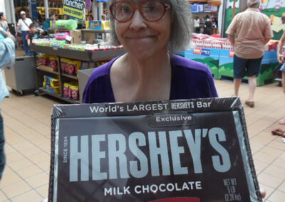Polly traveled to Hershey for some yummy fun