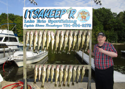 Raymond of QLS-Sugar Creek caught a boat load of fish on his Erie trip
