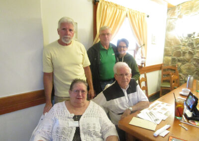 Shirley dined at Olive Garden with her family to celebrate her 65th wedding anniversary