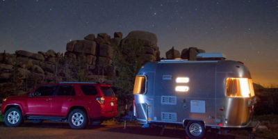 Camper and RV Detailing after towing it to the campground