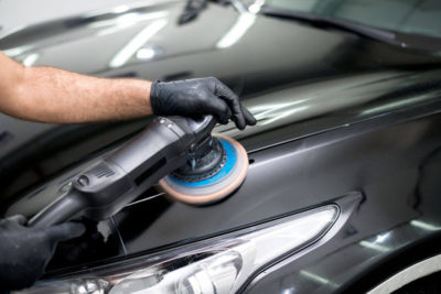 Buffing scratches off of a vehicle's paint