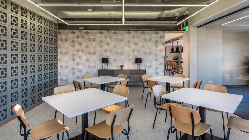 Interior dining area at Capitol Center Building
