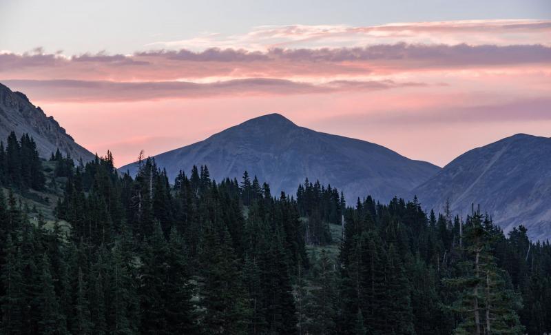 Colorado - Sunset at Mt. Sherman