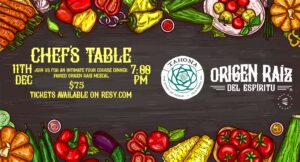 Origen Raiz Chef's Table @ Tahona Bar