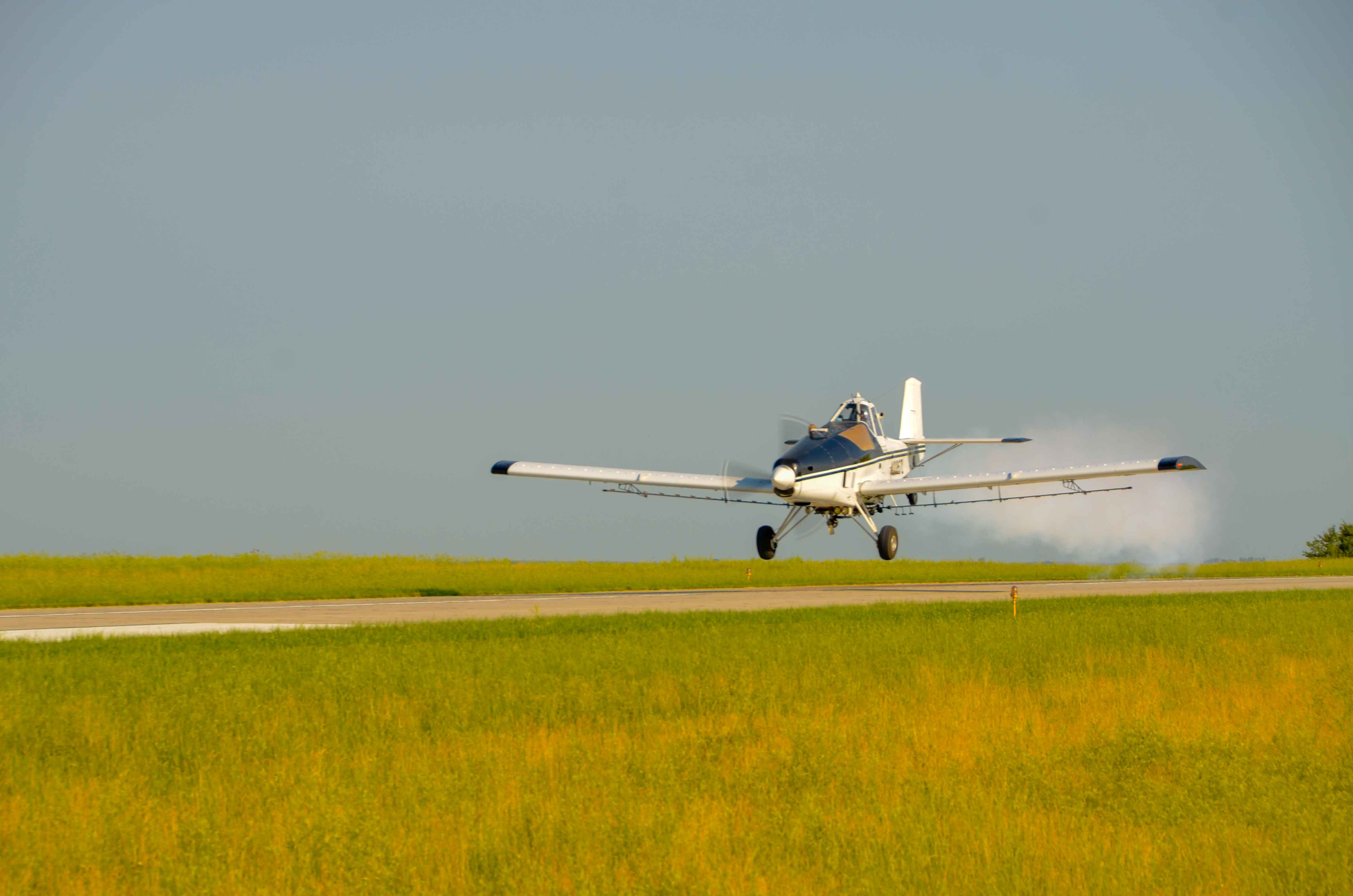 Crop Duster Sprays Holy Water Over Cow Island, Louisiana
